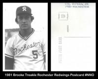 1981-Brooke-Treakle-Rochester-Redwings-Postscard-NNO