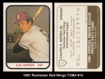 1981 Rochester Red Wings TCMA #15