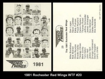 1981 Rochester Red Wings WTF #20