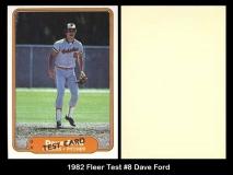 1982 Fleer Test #8 Dave Ford