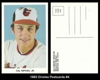 1982 Orioles Postcards #4