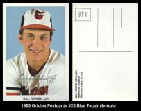 1983-Orioles-Postcards-23-Blue-Facsimile-Auto