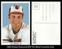 1983-Orioles-Postcards-23-Thin-Black-Facsimile-Auto