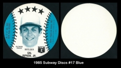 1985 Subway Discs #17 Blue