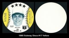 1985 Subway Discs #17 Yellow