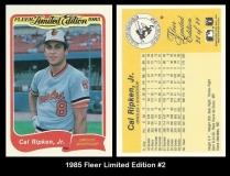 1985 Fleer Limited Edition #2