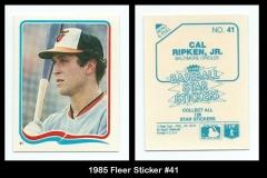 1985 Fleer Sticker #41