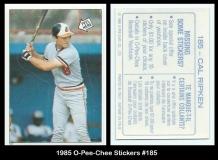 1985 O-Pee-Chee Stickers #185