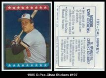 1985 O-Pee-Chee Stickers #197
