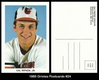 1985 Orioles Postcards #24