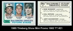1985 Thieberg Show Mini Promo 1982 TT #21