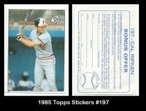 1985 Topps Stickers #197