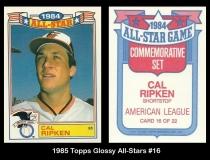 1985 Topps Glossy All-Stars #16