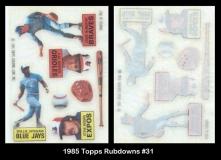 1985 Topps Rubdowns #31
