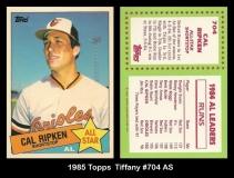 1985 Topps Tiffany #704 AS