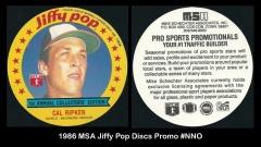 1986 MSA Jiffy Pop Discs Promo #NNO