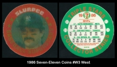 1986 Seven-Eleven Coins #W3 West
