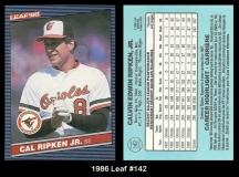 1986 Leaf #142