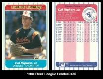 1986 Fleer League Leaders #35