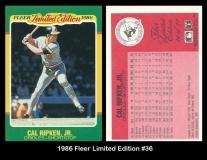 1986 Fleer Limited Edition #36