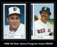 1986 All-Star Game Program Insert #NNO