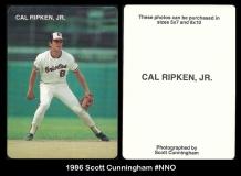 1986 Scott Cunningham #NNO