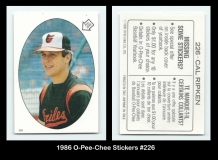 1986 O-Pee-Chee Stickers #226
