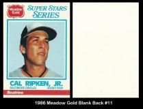 1986 Meadow Gold Blank Back #11