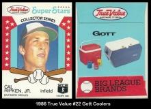 1986 True Value #22 Gott Coolers