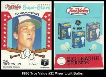 1986 True Value #22 Miser Light Bulbs