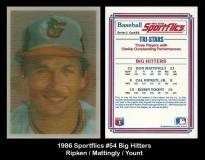 1986 Sportflics #54 Big Hitters