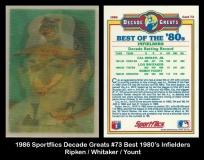 1986 Sportflics Decade Greats #73