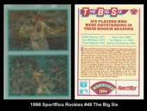 1986 Sportflics Rookies #48 The Big Six