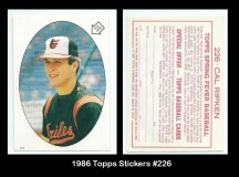 1986 Topps Stickers #226
