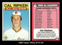 1986 Topps Tiffany #715 AS