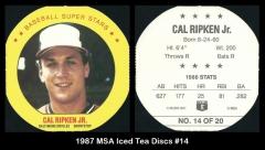 1987 MSA Iced Tea Discs #14