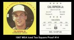 1987 MSA Iced Tea Square Proof #14