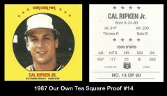 1987 Our Own Tea Square Proof #14