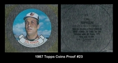 1987 Topps Coins Proof #23