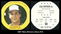 1987 Weis Winners Discs #14