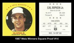 1987 Weis Winners Square Proof #14