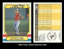 1987 Fleer Award Winners #33