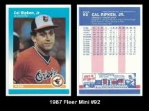 1987 Fleer Mini #92