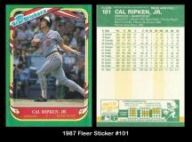 1987 Fleer Sticker #101