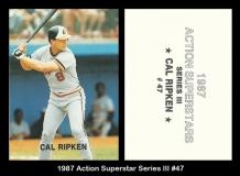 1987 Action Superstar Series III #47