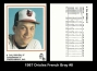 1987 Orioles French Bray #8