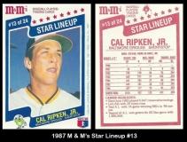 1987 M&Ms Star Lineup #13
