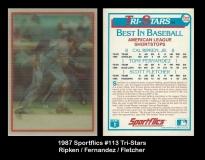 1987 Sportflics #113 Tri-Stars