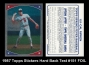 1987 Topps Stickers Hard Back Test #151 FOIL