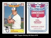 1987 Topps Glossy All-Stars #16